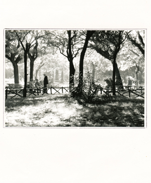 man in a park in Rome