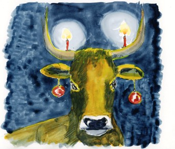 day 8 of my advent calendar, or a typical Swiss advent cow