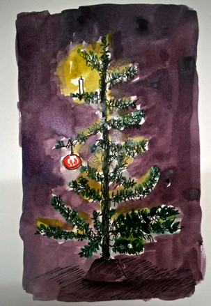 Day 12 of the advent calendar, and a minimalist x-mas tree