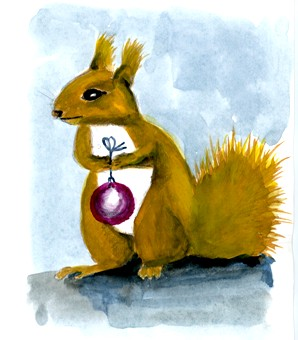 Day 16 of my advent calendar, or a stressed squirrel