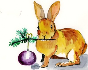 day 20 of my advent calendar, and a rabbit showing off
