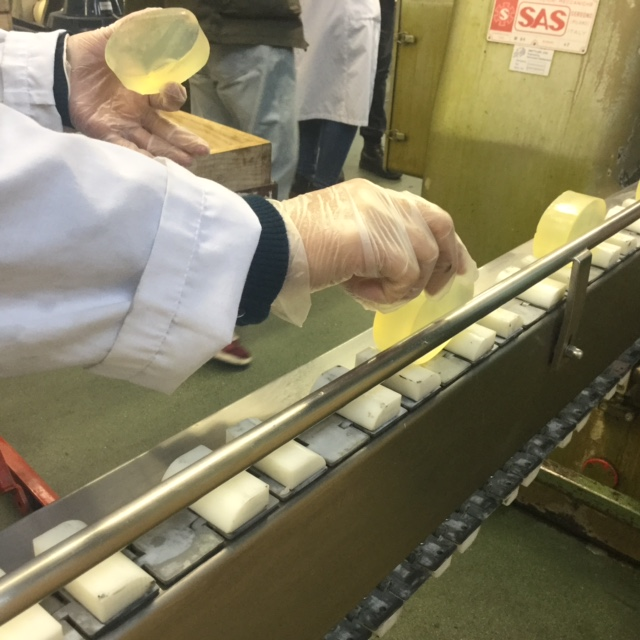 a trip to the factory that produces my soaps. now.